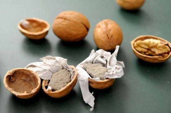 Поддельные грецкие орехи из Китая (4 фото + 1 видео)