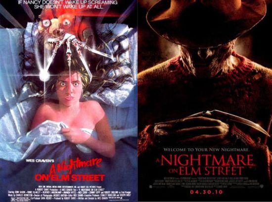Постеры к фильмам ужасов и их ремейкам (35 фото)