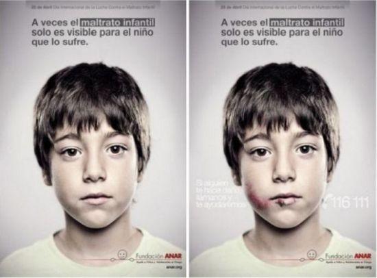 Интересная социальная реклама в Испании (4 фото + 1 видео)