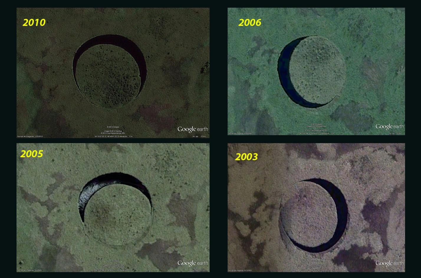 Загадочный круг в болотах аргентины